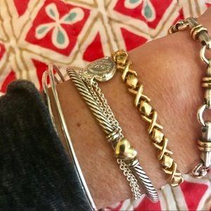 Jewelry - 💥 14k Gold X & O Link Bracelet 7in / 7g Solid